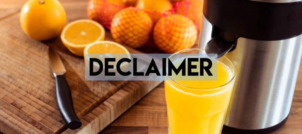 declaimer