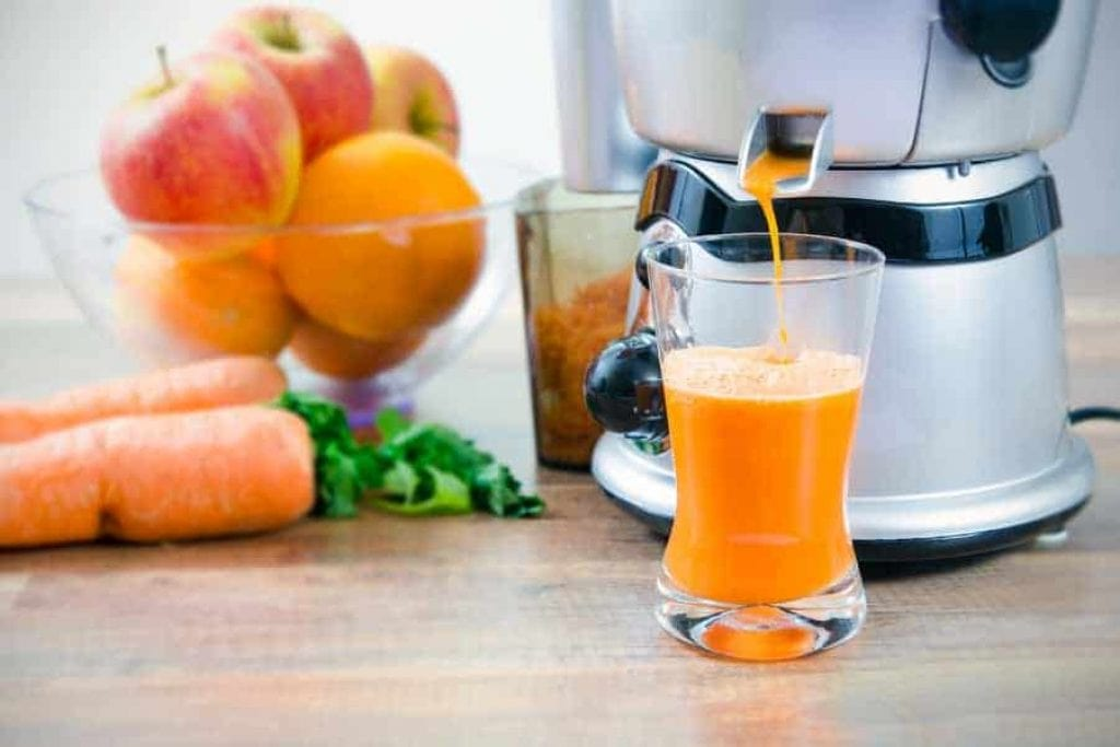juicing on a centrifugal juicer