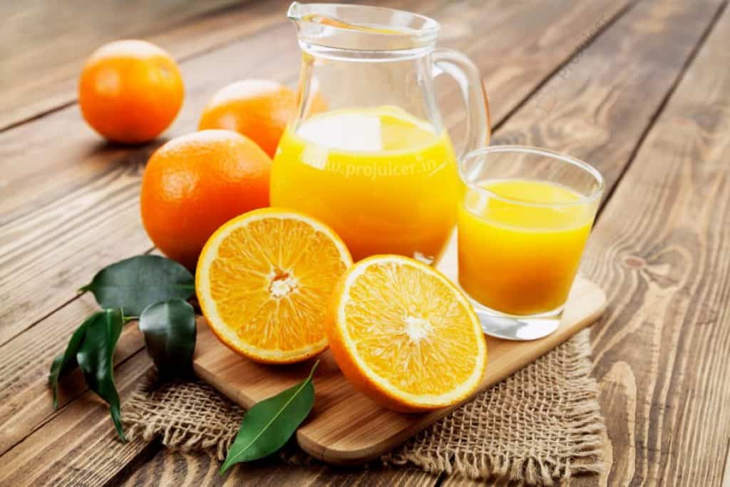 quantity of orange juice to drink a day